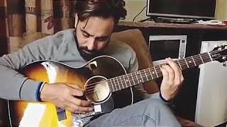 Maan saab playing guitaar