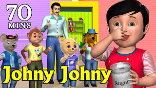Johny Johny Yes Papa Nursery Rhyme - Kids' Songs - 3D Animation English Rhymes For Children