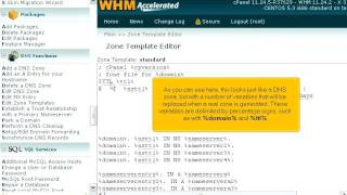 How to edit the DNS zones templates in WHM