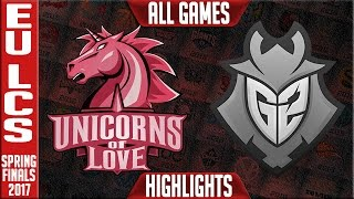 Unicorns of Love vs G2 Highlights All Games - EU LCS Spring Finals 2017 UOL vs G2 All Games
