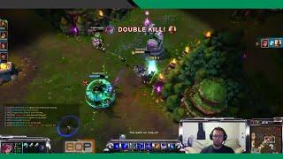80P Live: LoL: 3v5 Epic Vi, 5 for 0 Team Fight