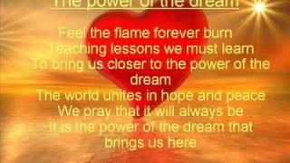 The power of the dream lyrics