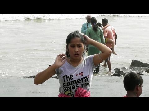 Tourist taking sea baths in Digha sea beach