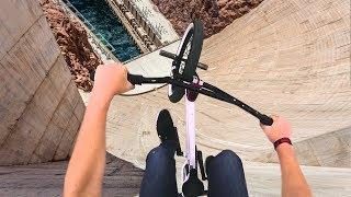 guy attempts crazy bike trick...
