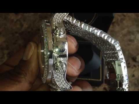 Real diamond 9ct ICETIME watches fully loaded