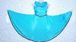 How to cut and stitch full Gher umbrella cut dress