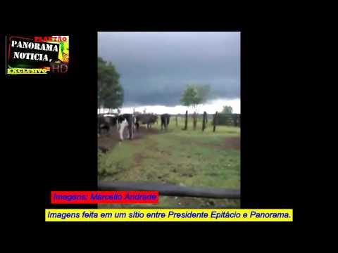 Peão filma tornado em fazenda antes de chegar em Panorama