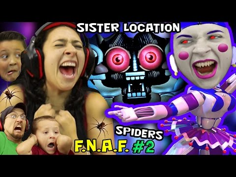 KILLER BALLERINA Scares MOM! FNAF SISTER LOCATION #2 w/ REAL SPIDERS (FGTEEV SCARY Ballora Gameplay)