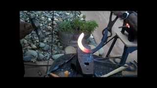 Blacksmithing, Making a knife from a horseshoe