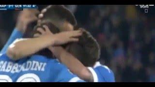 هدف جميل عمر القادوريOmar El Kaddouri لنابولي ضد جنوى