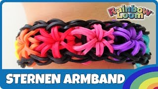 RainbowLoom Sternen-Armband - deutsche Anleitung