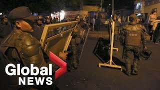 LIVE: Clashes at Venezuela-Columbia border