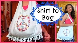 Shirt to Bag DIY | No sew