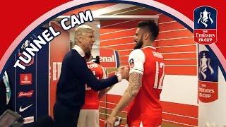 Tunnel Cam - Arsenal vs Manchester City - Emirates FA Cup Semi-Final   Inside Access