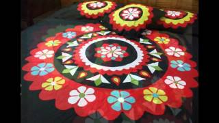 Handmade Applique Bedsheet