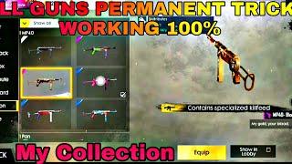 All Guns Permanent Trick Working 100% Free Fire Battlegrounds