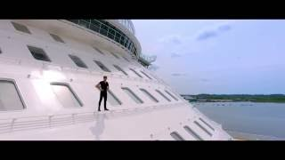 Freerunner let loose onboard world's largest cruise ship Harmony of the Seas