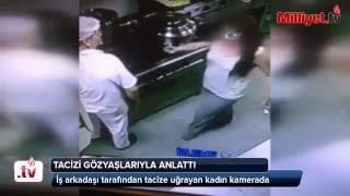 Taciz anı güvenlik kamerasında Videosu
