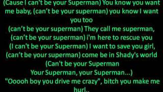 Eminem- Superman (Lyrics)