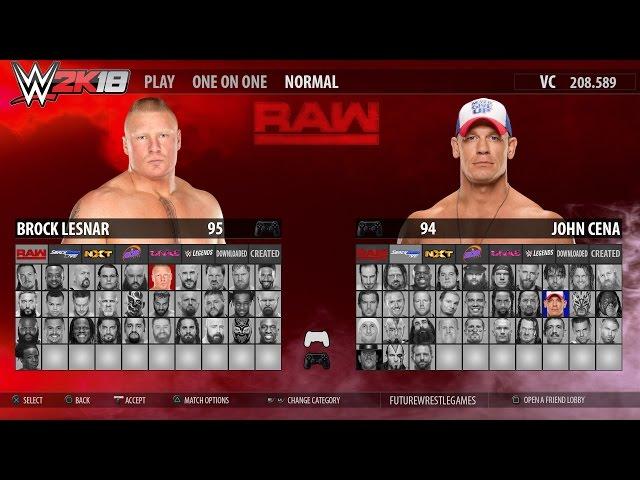 WWE 2K18 - FULL ROSTER GAMEPLAY (RAW,SmackDown,NXT,205,Divas,Legends) [Concept]