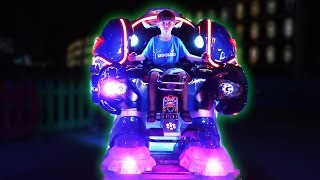 My Son is a Robot ! BIG TOYS FUN Rides