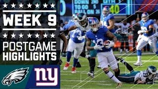 Eagles vs. Giants | NFL Week 9 Game Highlights