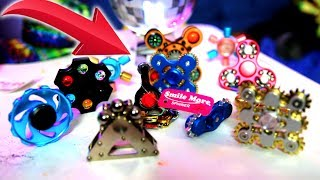 TOP 10 COOLEST Fidget Spinners in The World! (RARE ROMAN ATWOOD NEW FIDGET SPINNER GIVEAWAY)