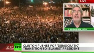 Egyptian IGNORE REVOLUTION-Clinton Pushes For DEMOCRATIC