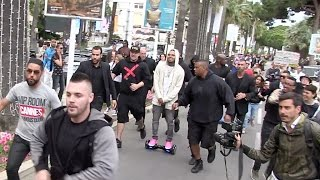 Very FUNNNNY - Chris Brown creates chaos on an electric vehicule in Cannes