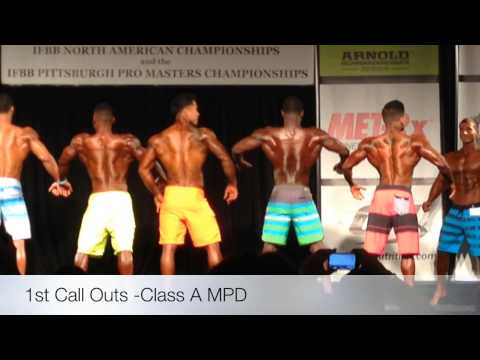 2014 NPC NORTH AMERICAN CHAMPIONSHIPS Men's Class A Prejudging Comparisons and Final Awards!