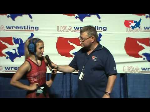 Brittney Cook (WA), Cadet Womens Nationals 95 lbs. champion