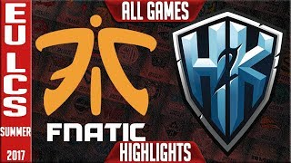 Fnatic vs H2K Highlights ALL GAMES EU LCS Playoffs 3rd Place Summer 2017 FNC vs H2K