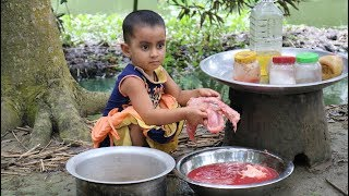 Fish Eggs & Paffed Rice Mashed - Picnic Of 3-5 Years Old Children - Sneyha