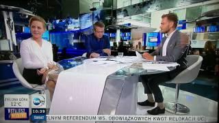 Śmiech prezenterki na wizji - TVN24 - zabawki | 1.10.2016