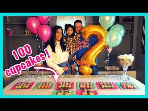 CUTEST SURPRISE GENDER REVEAL EATING 100 CUPCAKES ARE WE HAVING A BOY OR GIRL 👶🏻👧🏻