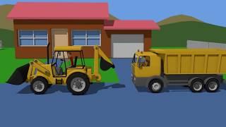 Truck and Excavator | Construction Vehicles For Kids | Maszyny Budowlane Dla Dzieci - Bajki