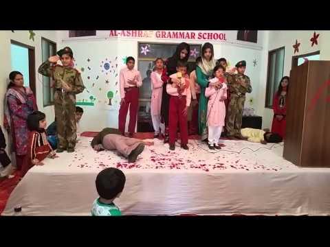Exclusive Performance on Peshawar attack Tablo in Al Ashraf Grammar School Kamoke