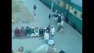 Namaaz at Railway Platform