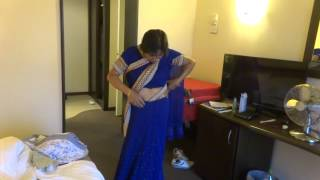 Aruna Sharma Wearing Blue Rajasthani Sari in Suite Nr 111 Hotel Europa, Eforie Nord Jul 07, 2015