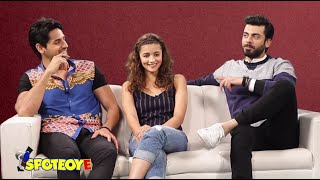 Alia, Sidharth & Fawad get CANDID about their families | SpotboyE Exclusive Interview Kapoor & Sons