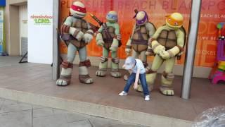 Nickelodeon land blackpool Dancing with ninja turtles
