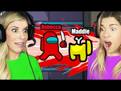 Best Friends Play Among US For the First Time 900 Imposter IQ Plays Rebecca Maddie Challenges