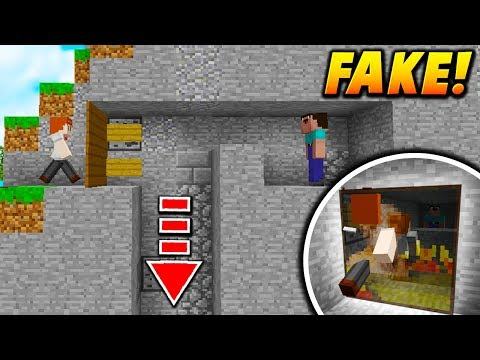 FAKE PAINTING DROP TRAP! - Minecraft SKYWARS TROLLING! (INSANE!)