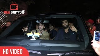 Ranbir Kapoor And Arjun Kapoor At Karan Johar Birthday Grand Party