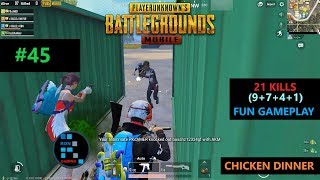 "[Hindi] PUBG MOBILE | ""21 KILLS"" FUN GAMEPLAY WITH AMAZING CHICKEN DINNER"