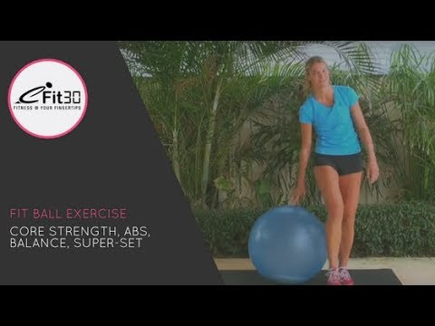 Fit ball CORE STRENGTH ABS WORKOUT