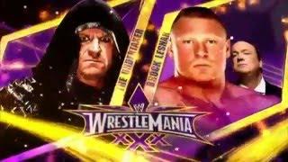 WWE WrestleMania 30  Brock Lesnar vs The Undertaker Highlights