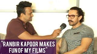 """""""Ranbir Kapoor was making fun of my films!"""" says Aamir Khan"""