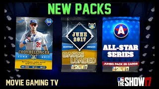 June 2017 POTM + All Star Series Jumbo Pack Opening! MLB The Show 17 Diamond Dynasty