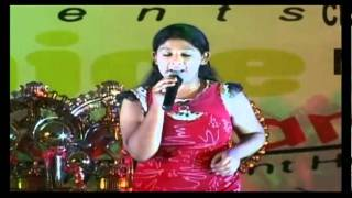 Poornima gives Perforamance in Singing Competion 2010